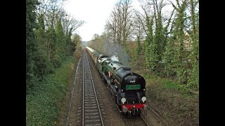 preview picture of video 'MN no.35028 'Clan Line' with a Valentines Day Surrey Hills VSOE Thursday 14th February 2013'