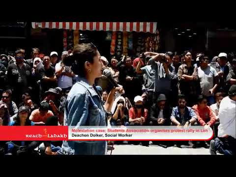 Molestation case; Student Association organises protest rally in Leh