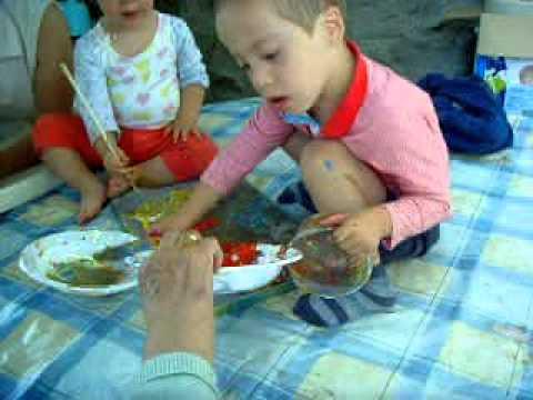 Ver vídeoSíndrome de Down: Pintando con pinceles