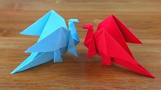 How To Make Easy Origami Dragon - Origami Dragon - DIY 3D Paper Dragon Easy Tutorial