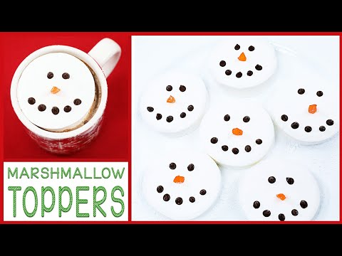 DIY HOLIDAY MARSHMALLOW DRINK TOPPERS
