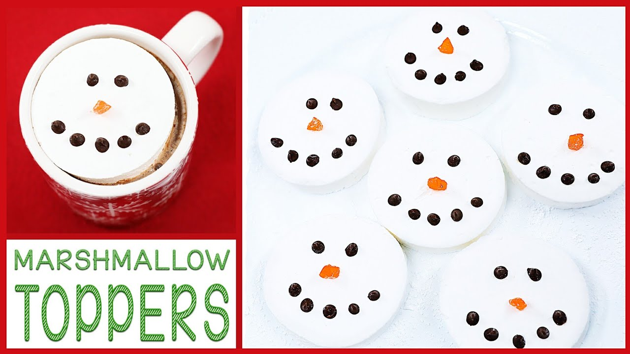 DIY HOLIDAY MARSHMALLOW DRINK TOPPERS thumbnail