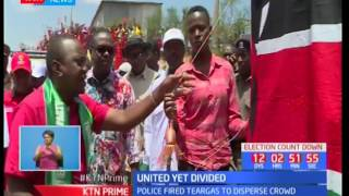 Chaos in Marsabit as two gubernatorial candidates clash during the Jubilee campaigns in the area