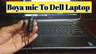 HOW TO USE BOYA BY-M1 MIC TO DELL LAPTOP | CONNECT EXTERNAL MICROPHONE TO PC OR LAPTOP | HINDI 🔥