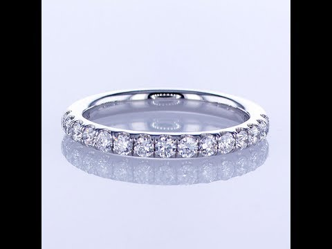 (PT 1)  0.57CT 18KT WHITE GOLD WEDDING BAND W/ SHARED PRONGS