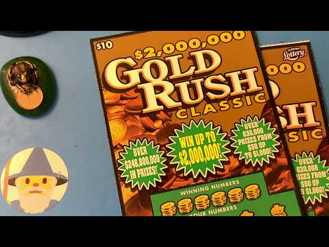 NEW TICKETS!! (3) $10 Gold Rush Classic - Florida Lottery Scratchers