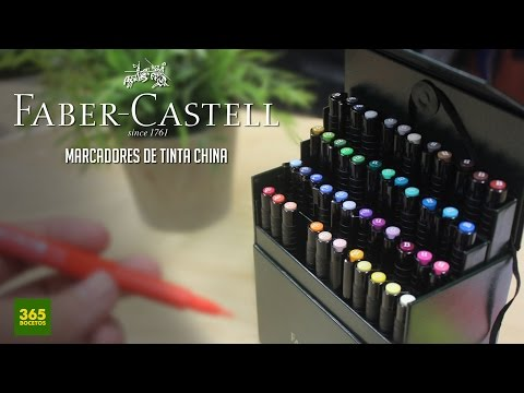 APRENDER A DIBUJAR CON MARCADORES FABER-CASTELL: Como dibujar profesionalmente paso a paso