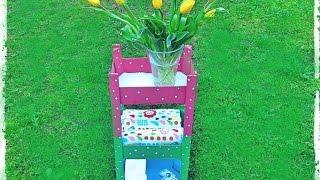 Cómo hacer un carrito con cajas de fresas y ensalzar tu baño.