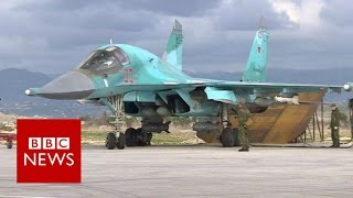 Inside Russian airbase launching Syria strikes - BBC News