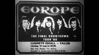 Europe   The Final Countdown Tour In Sweden Falun 10 Maj 1986