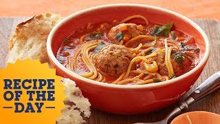 "Recipe of the Day: Rachael's Spaghetti and Meatball ""Stoup"" 