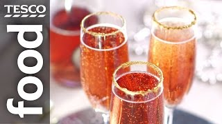How to decorate glasses with edible glitter