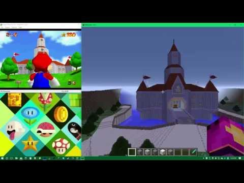 Complete and accurate Peach\'s Castle from Super Mario 64 Minecraft ...