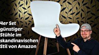 Skandinavische Stühle 4er Set GÜNSTIG | Möbel Haul (Deutsch)