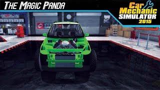 Car Mechanic Sim 2015 - The Flying Panda!! (Rino Piccolo Monster Glitch)