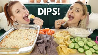 CHIPS AND DIPS MUKBANG (Buffalo Chicken & French Onion Dip)