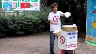 Смотреть онлайн Классный танец Джексона от продавца ваты