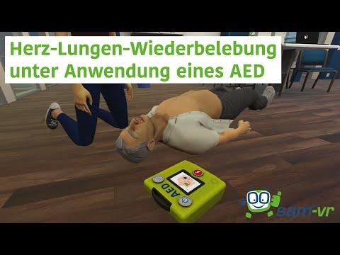 Herz-Lungen-Wiederbelebung unter Anwendung eines AED