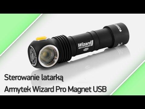 Sterowanie latarką Armytek Wizard Pro Magnet USB