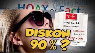 Hoax or Fact: Heboh Postingan Kacamata Hitam Bermerek Ternama, Diskon 90%?
