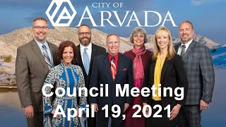 Preview image of Arvada City Council Meeting - April 19, 2021