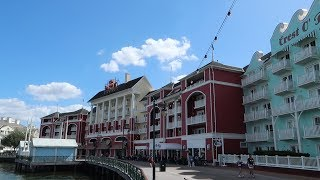 Disneys Boardwalk Resort Tour | Hotel Grounds Walking Tour, Boardwalk Shops, & Pool Locations!