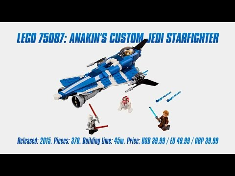 'Lego Star Wars 75087: Anakin's Custom Jedi Starfighter' Unboxing, Speed Build & Review