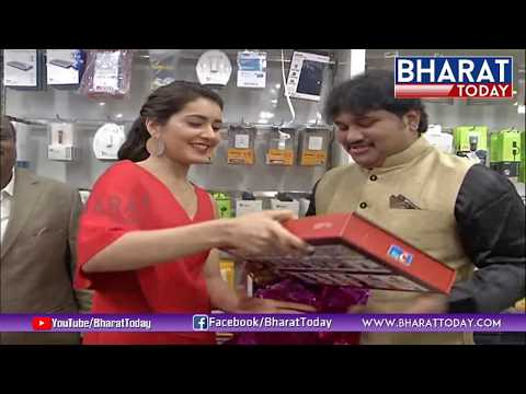 Raashi Khanna lateste, Big c shop open at kukatpally
