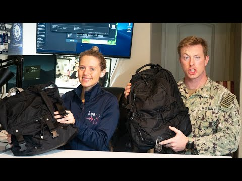 US Navy Sailor and Trauma Nurse   What's in Our Work Bags