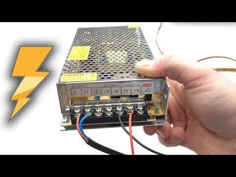 Импульсный блок питания 12v 8A с AliExpress