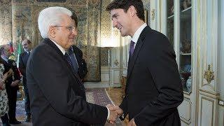 Il Presidente Mattarella riceve il Primo Ministro Canadese Trudeau