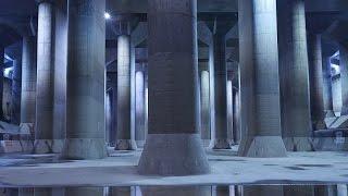「首都圏外郭放水路」埼玉県観光潜入!地下神殿!巨大な空洞により洪水被害ゼロの施設の中を歩く!