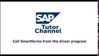 call smartforms from the driver program
