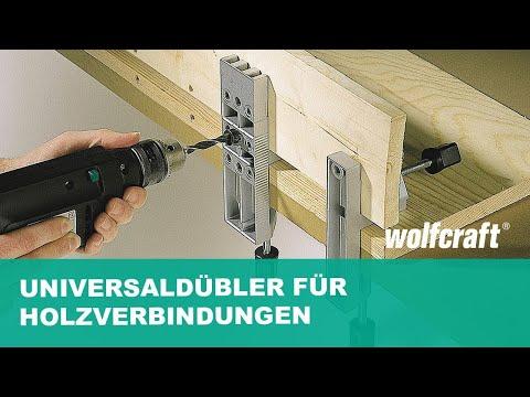 Universaldübler für Holzverbindungen nutzen | wolfcraft