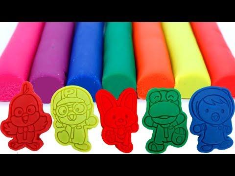 Impara i Colori con modellini di argilla stampi per animali giocattoli divertenti per Bambini