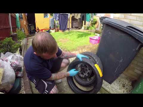 DIY MOTORBIKE TYRE CHANGE, ITS A LOT HARDER THAN YOU THINK MARK SAVAGE