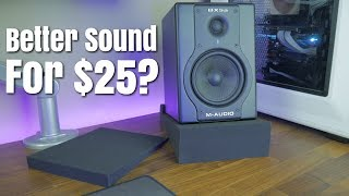 How To Improve Audio Quality From Your Desktop Speakers/Monitors Using Rockville Foam Isolation Pads