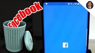 Delete Facebook Account from Android Phone w/ Messenger Permanently (Note, S9,  Huawei, LG etc)