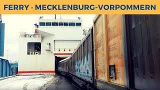 Ferry MECKLENBURG-VORPOMMERN in Trelleborg; Green Cargo T44 339 shunting Cargo Train