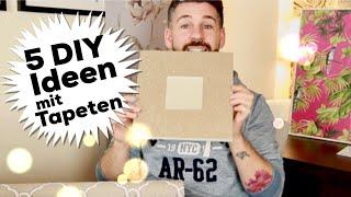 5 DIY Ideen mit Tapeten - #Wohnprinz (Enthält bezahlte Produktplatzierung, Werbung)