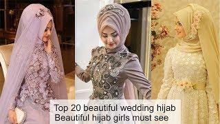 Top 20 Wedding Hijab Styles Bridal Hijab Style Beautiful Girls Must Watch | Umara Design
