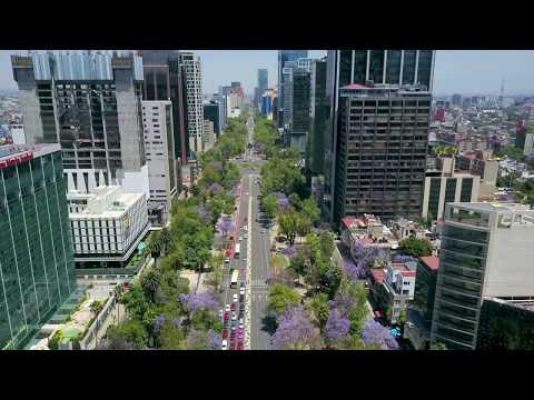 Flight Over Mexico Citys Paseo De La Reforma With Dji Mavic Pro Drone