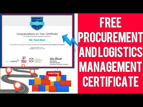 Free courses online with certificates 2021 | Logistics and ... - YouTube