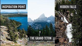 Grand Teton National Park Day 1: Hiking To Hidden Falls & Inspiration Point