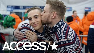 2018 Winter Olympics: Gus Kenworthy & Adam Rippon Share A Smooch At The Opening Ceremony!   Access   Kholo.pk