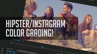 Easy Instagram Color Grade - Hipster Color Correction Tutorial