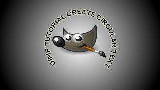 create circular text using gimp