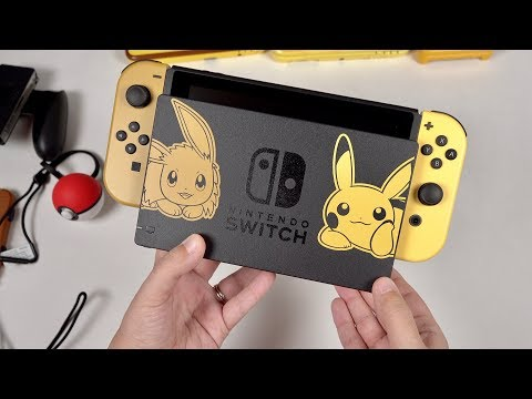 Pikachu & Eevee Edition BUNDLE: Nintendo Switch Unboxing! (Let's Go, Pikachu)
