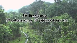Heavy Rainfall +Thunder sounds(Sleep+Relax+Focus+Meditate)HD 1080p