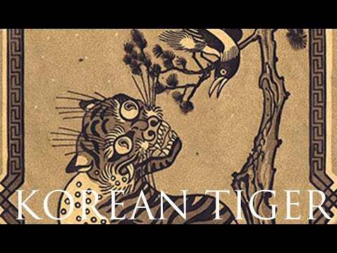 Lino cut Printmaking time lapse- Korean Tiger by Emils Salmins [14:23]